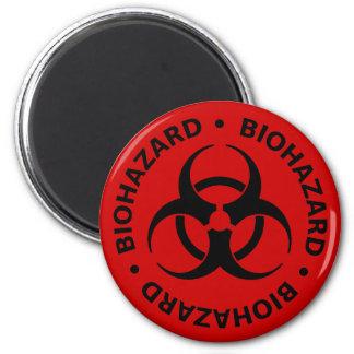 Biohazard Warning 2 Inch Round Magnet