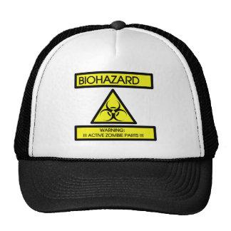 BIOHAZARD, WARNING ACTIVE ZOMBIE PARTS MESH HAT