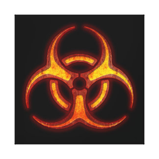 Biohazard Warning Gallery Wrap Canvas