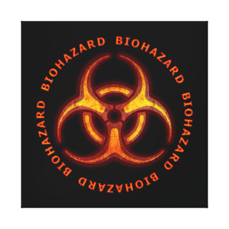 Biohazard Warning Gallery Wrapped Canvas