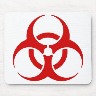 biohazard ! warning danger mousepad