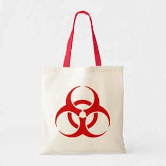 biohazard ! warning danger tote bag