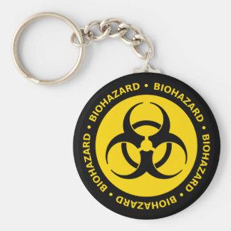 Biohazard Warning Basic Round Button Keychain