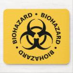 Biohazard Warning Mouse Pads