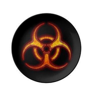 Biohazard Warning Porcelain Plate