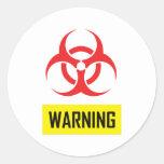 BIOHAZARD WARNING ROUND STICKER