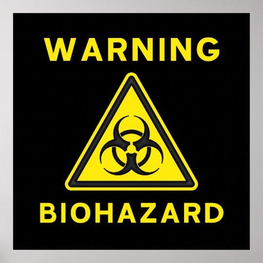 Biohazard Warning Sign