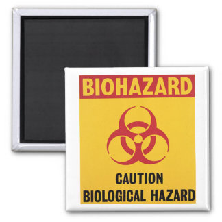 Biohazard Warning Sign Magnet