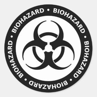 Biohazard Warning Sticker