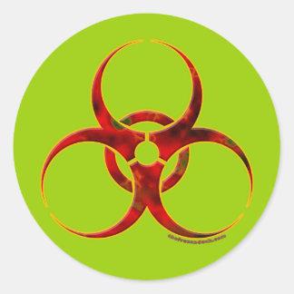 Biohazard Warning Symbol Classic Round Sticker