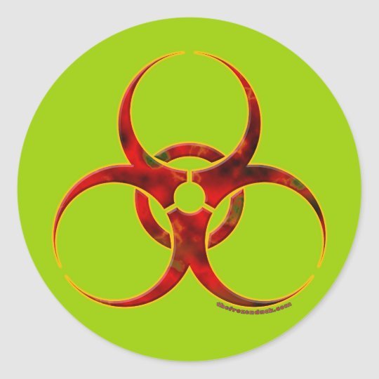 Biohazard Warning Symbol Classic Round Sticker