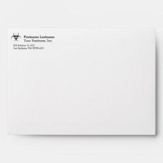 Biohazard Warning Symbol Envelope