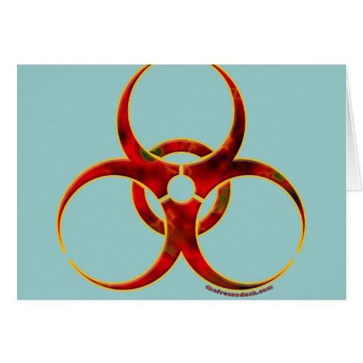 Biohazard Warning Symbol Greeting Card