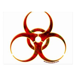 Biohazard Warning Symbol Postcard