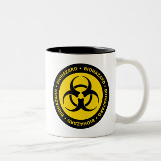 Biohazard Warning Two-Tone Coffee Mug