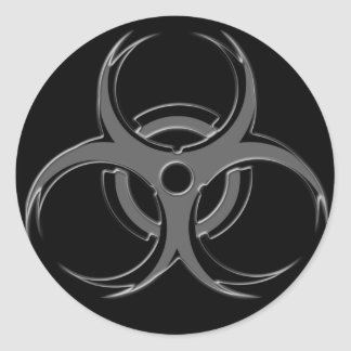 Biohazard X Pegatina Redonda