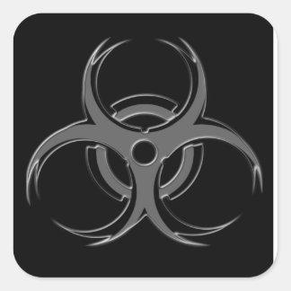 Biohazard X Square Sticker