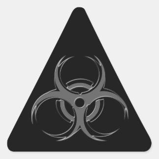 Biohazard X Triangle Sticker