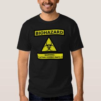 Biohazard Zombie Active Sign T-shirt