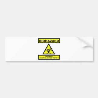 Biohazard zombie bumper sticker