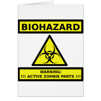 Biohazard zombie card