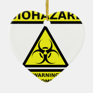 Biohazard zombie ceramic ornament