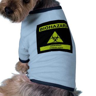 Biohazard zombie doggie t shirt