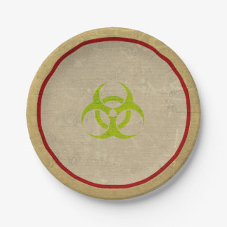 Biohazard Zombie Halloween Party Paper Plates 7 Inch Paper Plate