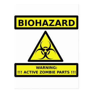 Biohazard zombie postcard