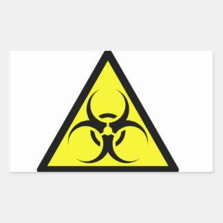 Biohazard zombie rectangular sticker