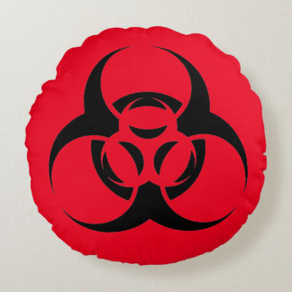 Biohazard Zombie Round Pillow