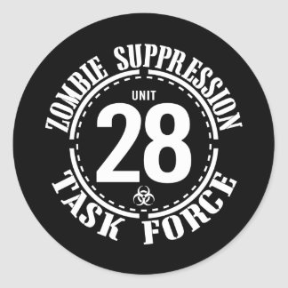 Biohazard Zombie Task Force Classic Round Sticker
