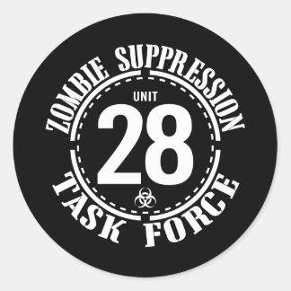 Biohazard Zombie Task Force Classic Round Sticker