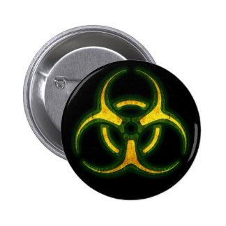 Biohazard Zombie Warning 2 Inch Round Button