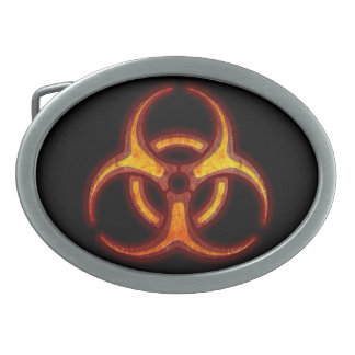 Biohazard Zombie Warning Belt Buckle