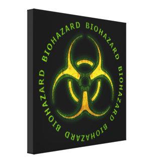 Biohazard Zombie Warning Canvas Print