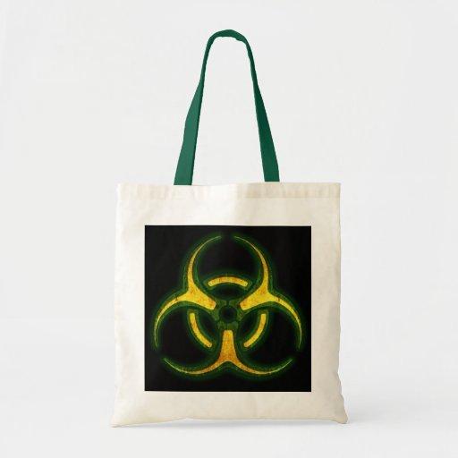 Biohazard Zombie Warning Canvas Bags