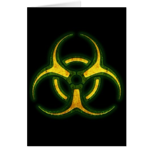 Biohazard Zombie Warning Card