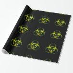 Biohazard Zombie Warning Gift Wrap Paper