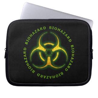 Biohazard Zombie Warning Laptop Sleeve
