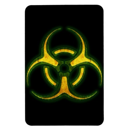 Biohazard Zombie Warning Magnets