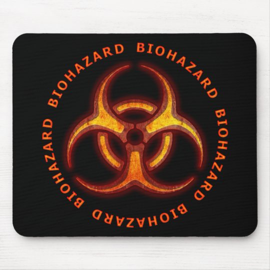 Biohazard Zombie Warning Mouse Pad