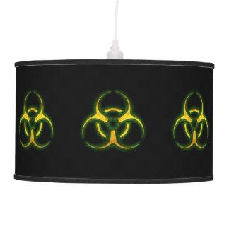 Biohazard Zombie Warning Pendant Lamp