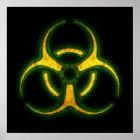 Biohazard Zombie Warning Poster