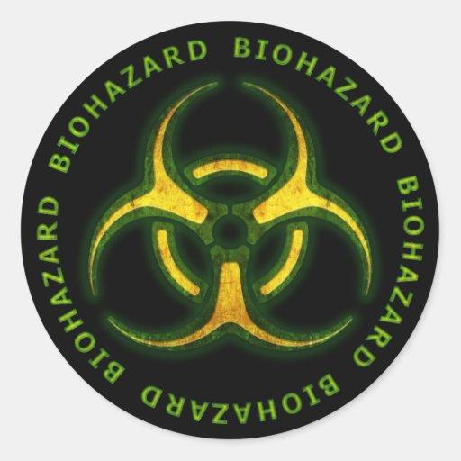 Biohazard Zombie Warning Sticker