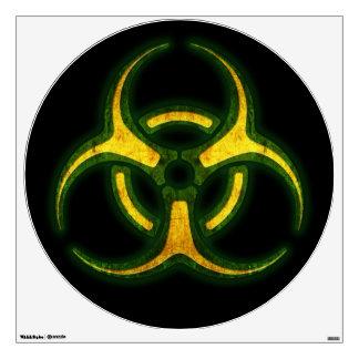 Biohazard Zombie Warning Wall Sticker
