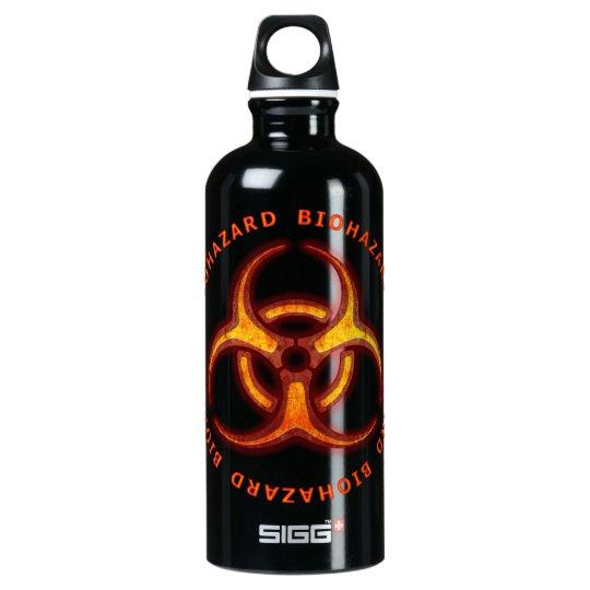 Biohazard Zombie Warning Water Bottle