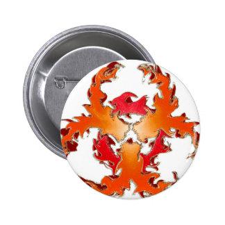 Biohazzard_white Pin Redondo 5 Cm