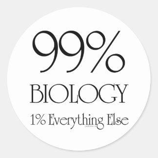 Biología del 99% pegatina redonda