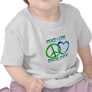 BIOLOGÍA del amor de la paz Camisetas